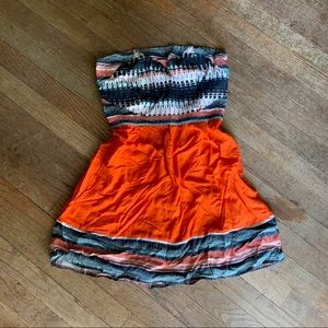 Orange Urban Outfitters strapless dress Size Small